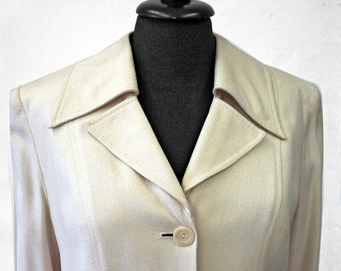 SALE! Woman SILK COAT Silk blazer, bride, wedding, structure, long jacket