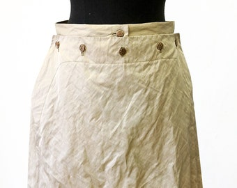 SAILOR SKIRT brown, seamen, Seaman, knee long