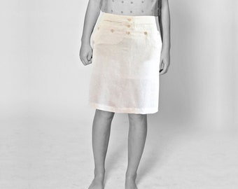 SAILOR SKIRT in different fabrics: cotton, silk, linen, sailor, seamen