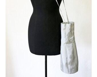 SILVER BAG for BOTTLE, shiny, silver, gift, design, shoulder bag, single piece, unique