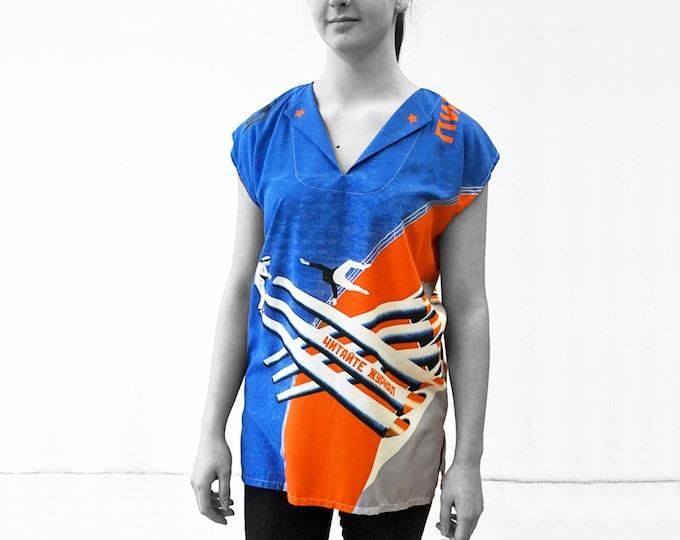 long colored tunic, short dress, sleeveless, digital print