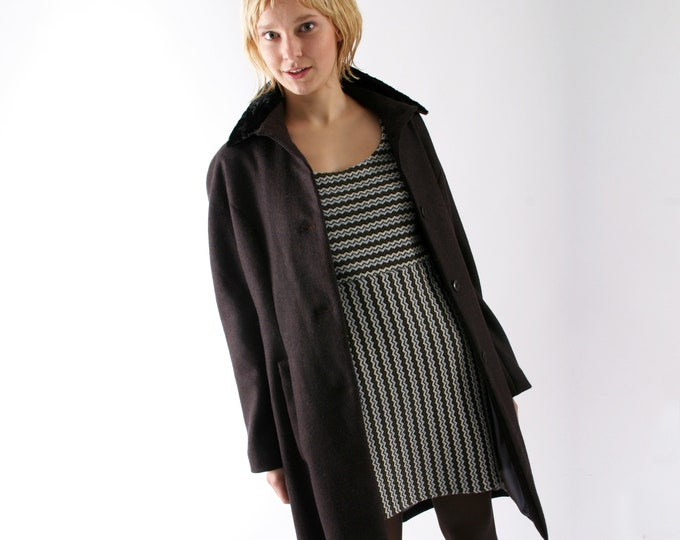 SHORT WINTER COAT in black or white, Wedding, Wool, Cashmere, Alpaca, Angora, Fake Fur