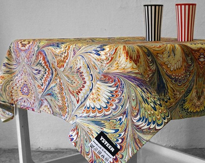 ART DECO TABLECLOTH, table runner, Vintage, Picnic Blanket, Beach Towel, Art Nouveau, digital print, 1920-1940, marbling, 1920s, 1930s, 40s
