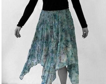 Silk Velvet burnout SKIRT silk, Layering, pattern, flowers, transparent, lace, jacquard, embroidery, lingerie, cutout, translucent top