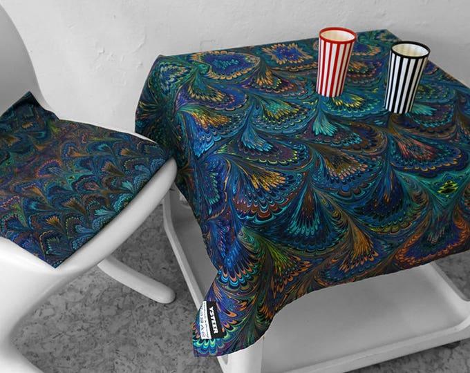 ART DECO TABLECLOTH, Organic Cotton, table runner, Beach Towel, Vintage, Art Nouveau, digital print, 1920 - 1940, marbling, 1920th, 1930th