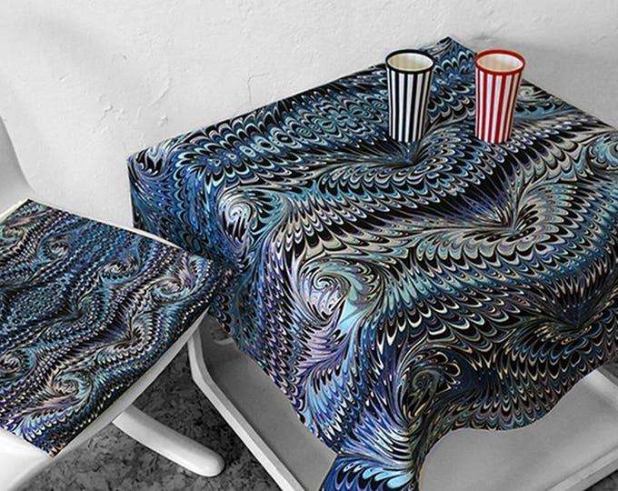 ART DECO TABLECLOTH, table runner, Vintage, Picnic Blanket, Beach Towel, Art Nouveau, digital print, 1920s - 1940s, marbling, 20s, 30s, 40s