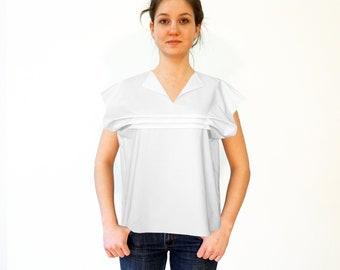 FOLDS BLOUSE slip form in different fabrics: silk, linen, cotton