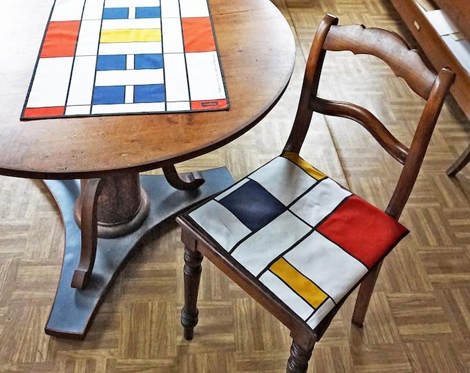 PILLOW CASE 100 years BAUHAUS, De Stijl, Constructivism, Concrete Art, primary colors, Cotton, 1920 - 1940, Digital Print