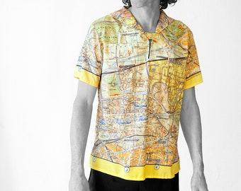 BERLIN Shirt with sailor collar, GDR map 1960s
