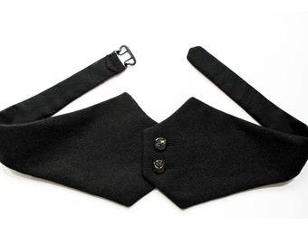 CUMMERBUND VELVET or WOOL, Silk Velvet, Vintage, frock, tuxedo, 18th century, 19th Century