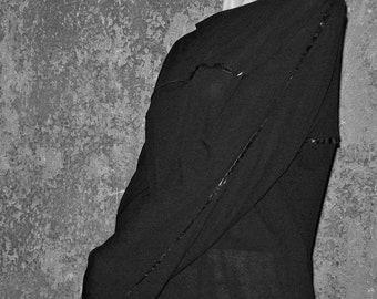 SALE! KIMONO T-SHIRT, jersey, Cimono, viscose, high tech material, long sleeves, black