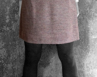 SHORT SKIRT blue, brown, Wool, Winter skirt, fall/ winter