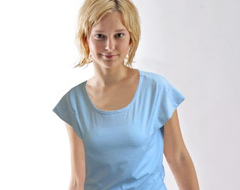 FURBELOW T-SHIRT in different colors, jersey, short sleeves, ruffle, Frill