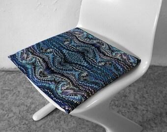 ART DECO Pillow Cases, Pillow Cover, Vintage, Cotton, Art Nouveau, digital print, 1920 - 1940, marbling, blue, 1920th, 1930th