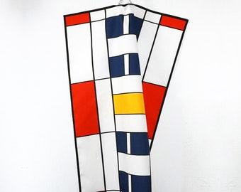 BAUHAUS TEA TOWEL Table Runner Place Mat, Dish Cloth, De Stijl, Constructivism Art, Organic Cotton