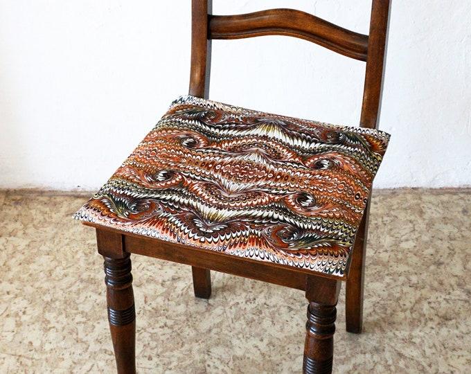 ART DECO Pillow Cases, Pillow Cover, Vintage, Cotton, Art Nouveau, digital print, 1920 - 1940, marbling, brown,