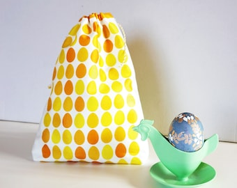 EASTER EGGS bag pouch, sustainable gift packaging, wrapping gifts sustainably