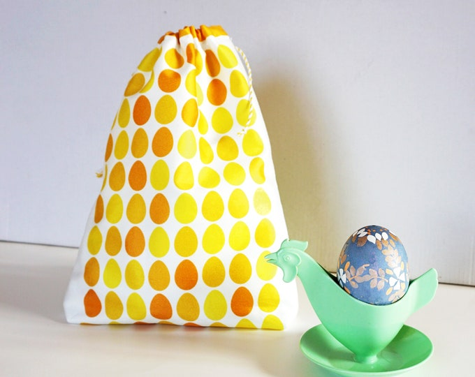 Featured listing image: EASTER EGGS bag pouch, sustainable gift packaging, wrapping gifts sustainably