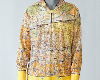 PIONEER Shirt with long Sleeves, sailor collar, Seaman, Berlin Map, card, plan Berlin, Socialism, digital print, Mauerbau