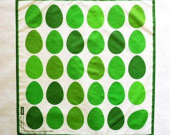 EASTER EGGS Scarf GREEN, easter, digital print, cotton, silk