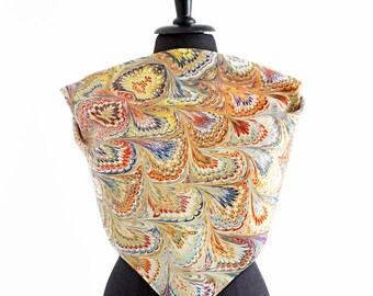 ART-DÉCO SCARF cotton and silk, Art Nouveau, 1920s - 1940s