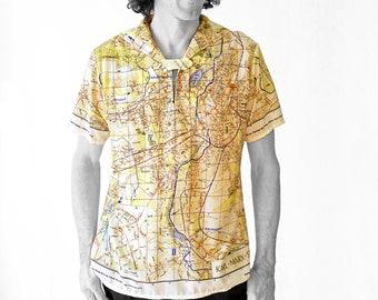 Karl-Marx-City Shirt with short sleeves and sailor collar
