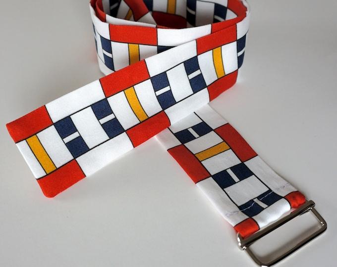 FABRIC BELT 100 years BAUHAUS, De Stijl, Constructivism, Concrete Art, primary colors, Cotton, 1920 - 1940, Digital Print