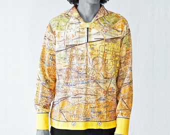 BERLIN Shirt with long sleeves, sailor collar, Berlin card, plan 1960s