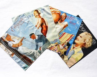 ART-DECO place mats, cloth napkins, sustainable gift packaging, wrapping gifts sustainably