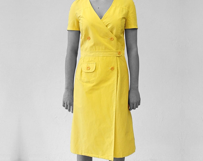 CIMONO DRESS  2-row, double row, in different colours, short sleeves, 1960s