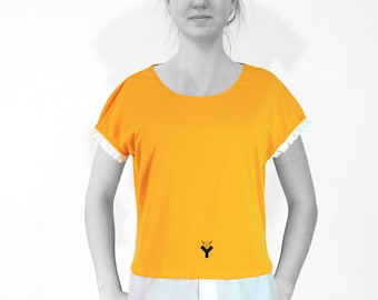 BLOUSE - SHIRT in many colors with screen print