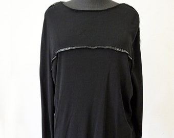 KIMONO T-SHIRT, jersey, Cimono, long sleeves, black