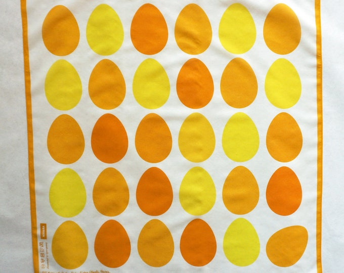 EASTER EGGS Scarf YELLOW, easter, digital print, cotton, silk