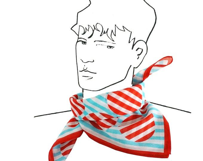 STRIPED DOT SCARF cotton silk, point, stripe, russian constructivism, digital print