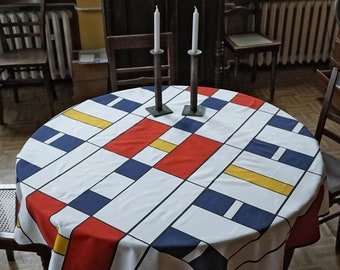100 years BAUHAUS TABLECLOTH, table runner, Beach Towel, digital print, 1920 - 1940, De Stijl, Constructivism, Concrete Art