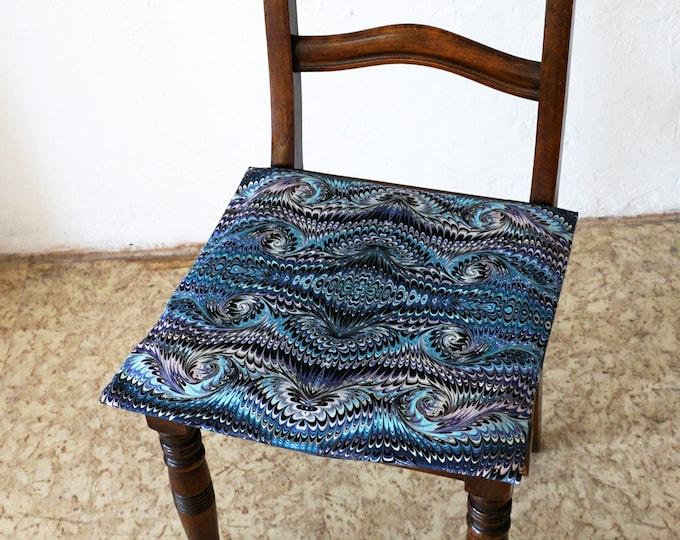 ART DECO Pillow Cases, Pillow Cover, Cotton, Art Nouveau, digital print, 1920 - 1940, marbling, blue