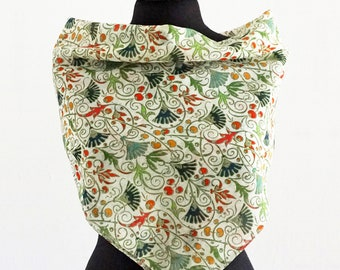 RENAISSANCE SCARF 16th century, historical pattern, Silk, Cotton, Digital Print