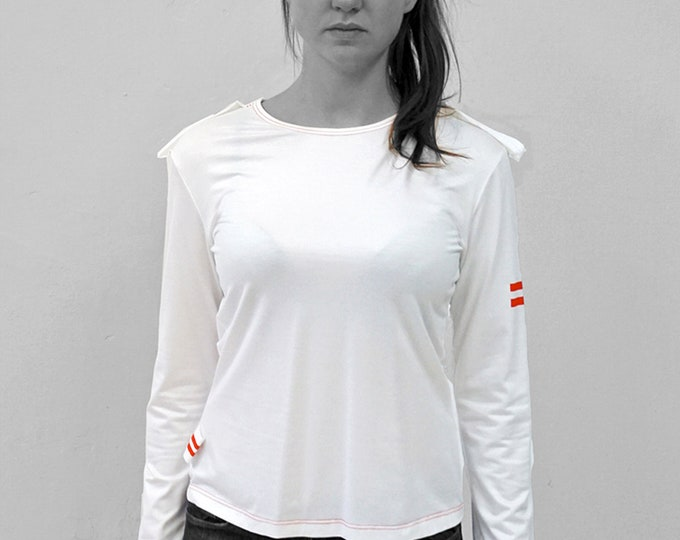 T-SHIRT No. 1 epaulettes, in different colours, long sleeves, Custom order, screen print