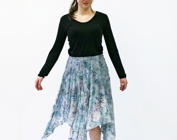 Silk Velvet burnout SKIRT silk, Layering, transparent, lace, jacquard, embroidery