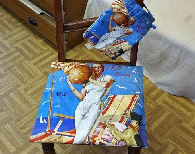 """ART DECO Pillow Case with 2 motifs, German Magazine """"Elegante Welt"""", Art Nouveau, Organic Cotton, digital print, 1930s"""