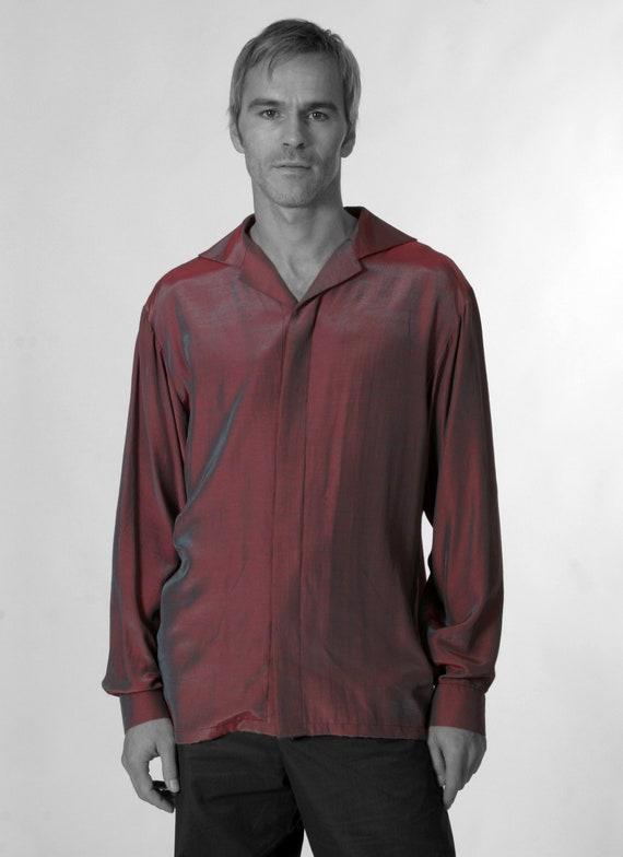 ee4a330729 MEN STRIPES SHIRT Silk Linen Cotton striped Shirt   Etsy