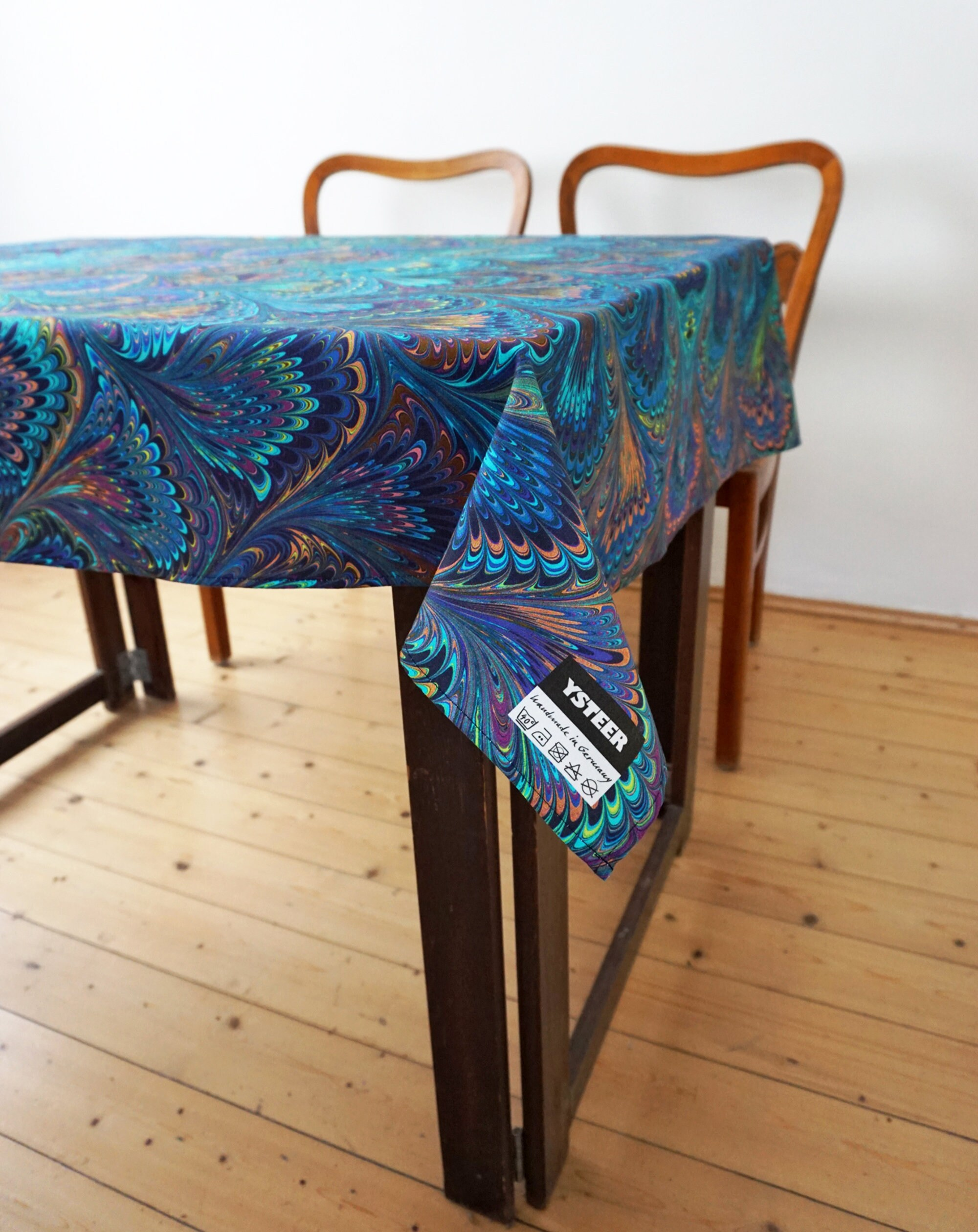 ART DECO TABLECLOTH Organic Cotton Vintage Beach Towel 1920th digital print 1920-1940 1930th marbling Art Nouveau table runner