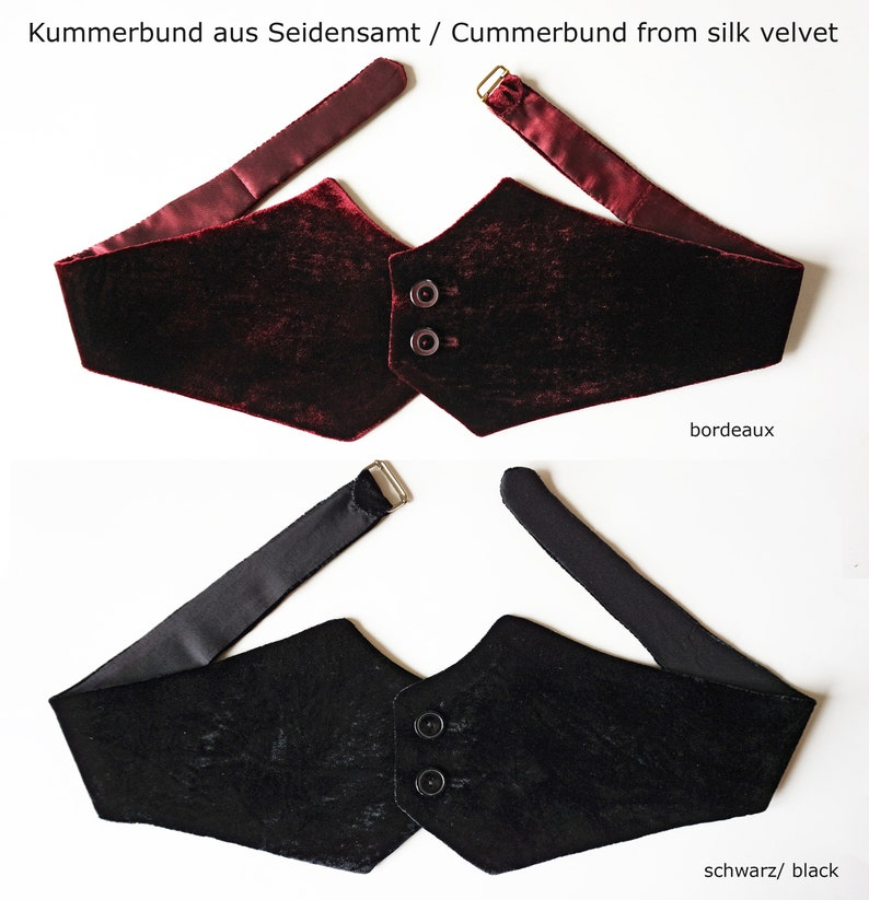 CUMMERBUND in different fabrics and colors velvet silk image 0