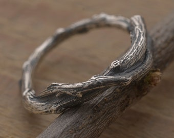 Tree Branch Ring, Sterling Silver Twig Engagement Ring DA377