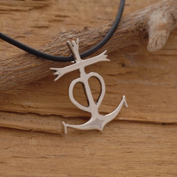7c6db48962c0 Croix de Camargue collier en argent collier Pendentif Croix   Etsy