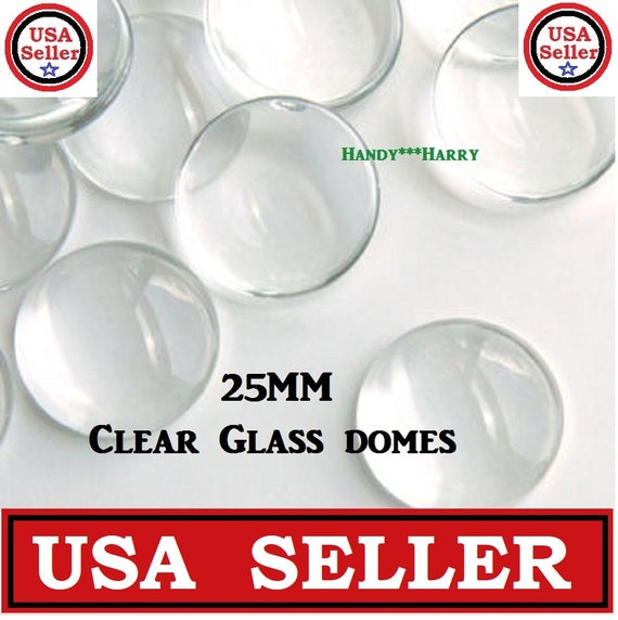 Square Clear Transparent Glass Cabochon Dome Flat Back Crystal Magnify Base Cove