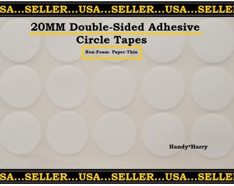 20MM Double Sided Circle Adhesive Tape Paper Thin (100) Circle Adhesives Round Double Sided Adhesive Tape Throw Away UR Glue DIY Jewelry