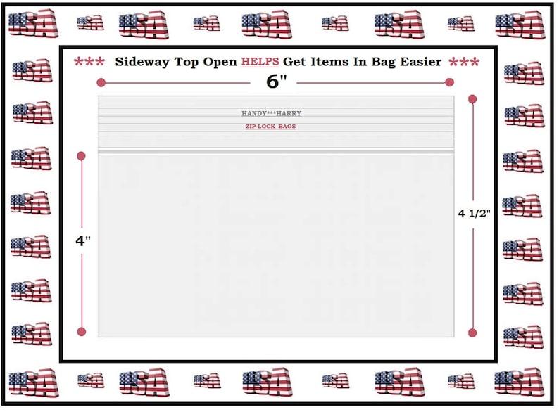Sizes 6 x 4 Zip Bags 2 x 6 Zip Lock Bags /& 4 X 4 White Block Write On Zip Lock Bags Great For DIY Jewelry Crafters 3 Zip Lock Bags