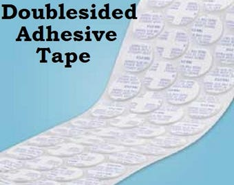 """1"""" Double Sided Circle Adhesive Tape 1 Inch Round Double Sided Adhesive Disk Throw Away UR Glue DIY Jewelry We carry 1/2""""  3/4"""" 1""""  1.25"""""""