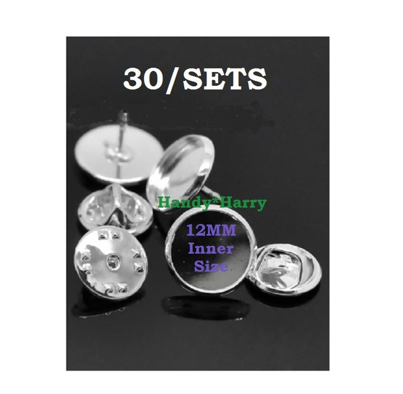 Beads & Jewelry Making Blank Bezel Tie Clip Bases W/ 16mm Inner Round Tray Pads Cabochon Settings Mens Tie Clips Clasps Findings Crafts Silver Tone Jewelry Findings & Components